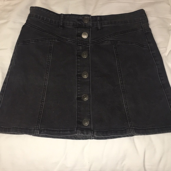 10d69caae26f Forever 21 Skirts | Nwot Black Denim Button Up Skirt | Poshmark